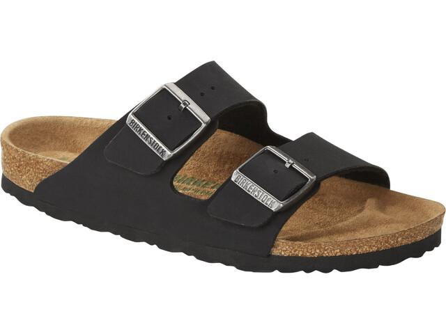 Birkenstock Arizona Sandals Birko-Flor Birkibuc Earthy Vegan Regular, black